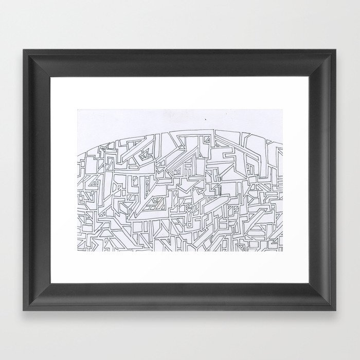 Costal City Framed Art Print