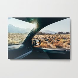 Roadtrip Sunset Metal Print