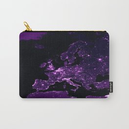 Earth Night Lit Up : Purple Carry-All Pouch