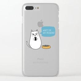 Wifi Cat Clear iPhone Case