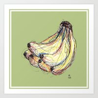 banana Art Prints featuring Banana by Ursula Rodgers