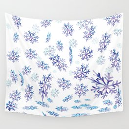Snowflakes falling Wall Tapestry