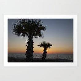 Florida Sunset. Art Print