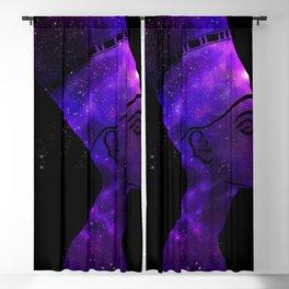 Queen Nefertiti Nebula Dark Stardust Blackout Curtain
