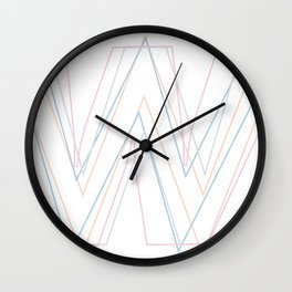 Intertwined Strength and Elegance of the Letter W Wall Clock