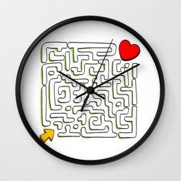 Secret love Wall Clock