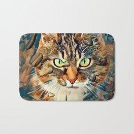 Cats Popart by Nico Bielow Bath Mat