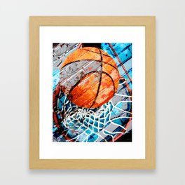 Modern basketball art 3 Framed Art Print