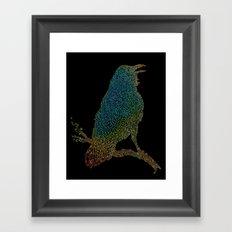 The Iridescent Raven Framed Art Print