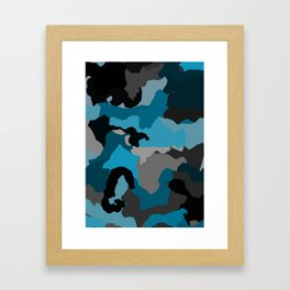 Blues and Grays Framed Art Print