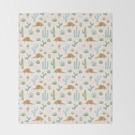 Armadillos in the Desert - Watercolor Throw Blanket