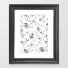 black watercolors Framed Art Print