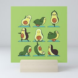 Avocado Yoga Mini Art Print