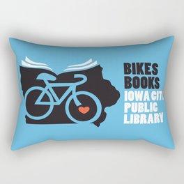 Bikes Books Iowa City Public Library Rectangular Pillow