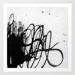 line stain dynamics Art Print