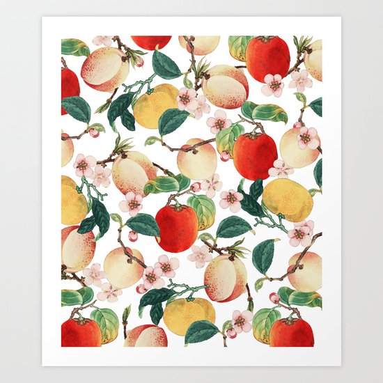 Fruity Summer #society6 #decor #buyart Art Print