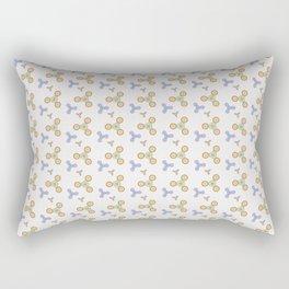 Fidget Spinner Seamless Pattern Rectangular Pillow