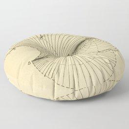 Fluid Dynamics Floor Pillow