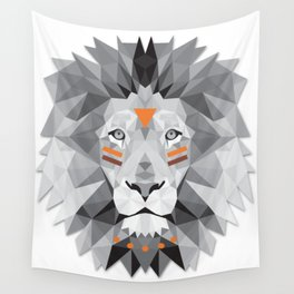 Boho poly lion Wall Tapestry