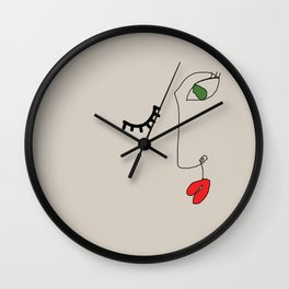 Winking Of Ya Wall Clock