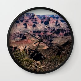 Grand Canyon - Colorful Layers Etched by Time in Desert Southwest Wall Clock