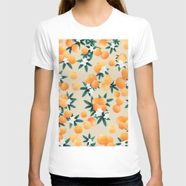 Orange Twist Flower Vibes #9 #tropical #fruit #decor #art #society6 T-shirt
