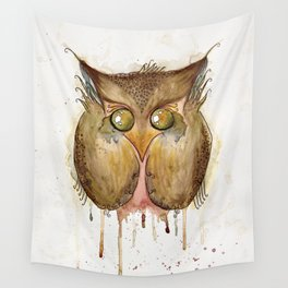 Vaguely Disturbing Owl Wall Tapestry