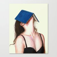 books Canvas Prints featuring Books by Carlos ARL