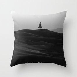 Monochrome Savior Throw Pillow