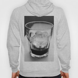 Timeless | Modern abstract black white coffee ice photography Hoody