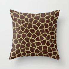 Giraffe Print Pattern Throw Pillow