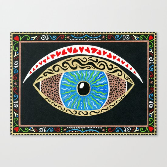 The eye sees all Canvas Print