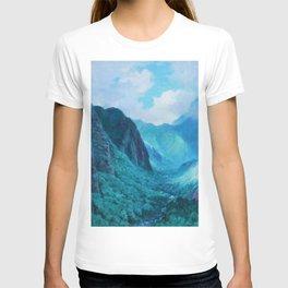 Iao Valley, Maui, Hawaiian landscape pinging by D. Howard Hitchcock T-shirt