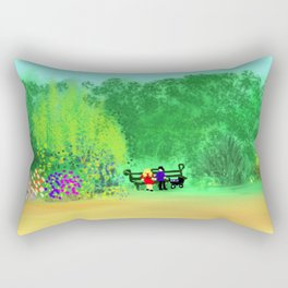 Lazy Sunday Afternoon in the Park Rectangular Pillow