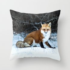 One Fox Throw Pillow