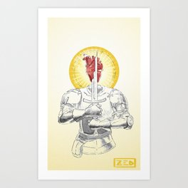 Fragility Armored Art Print