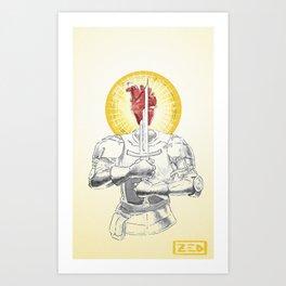 Fragility Armored Art Print