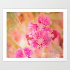 Textured Flowers Art Print