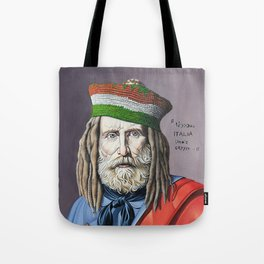 A pop-contemporary reworking of famous portraits Tote Bag