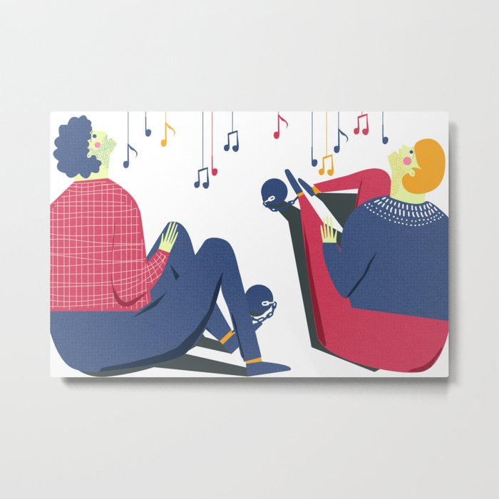 Paul and Silas Singing in Prison (By Alice Potter) Metal Print