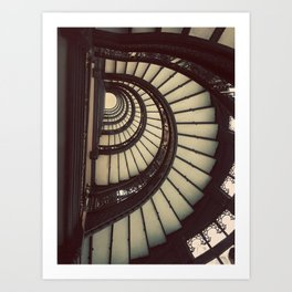 Chicago Rookery Building Staircase Color Photo Art Print