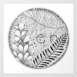 Zentangle®-Inspired Art - Tangled Zen Art Print