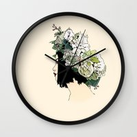 geisha Wall Clocks featuring Geisha by Hypathie Aswang