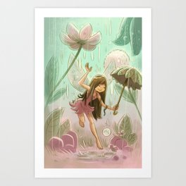 Goblins Drool, Fairies Rule! - Dewdrop Shower Art Print