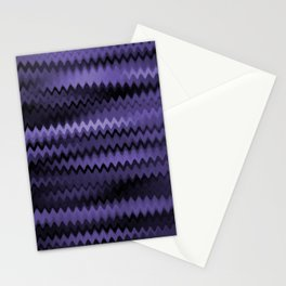 Purple Waves Abstract Stationery Cards