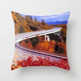 Blue Ridge Parkway in Autumn Throw Pillow