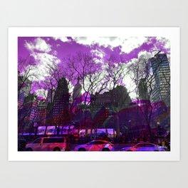 Bryant Purple Art Print