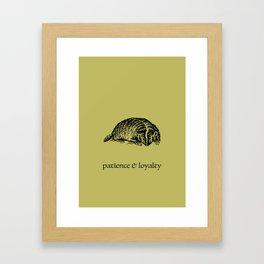 patience & loyalty (Hogwarts houses) Framed Art Print