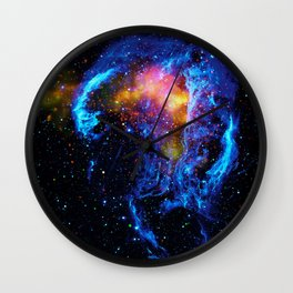 Veil Nebula Wall Clock