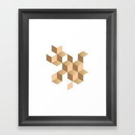 cubes deconstruction Framed Art Print